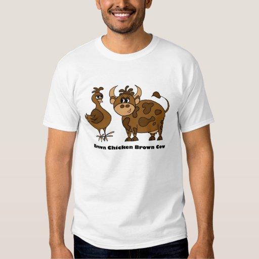 Vaca de Brown del pollo de Brown - camiseta Remera