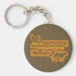 Vaca de Brown del pollo de Brown Llaveros Personalizados