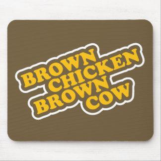 Vaca de Brown del pollo de Brown Alfombrillas De Raton