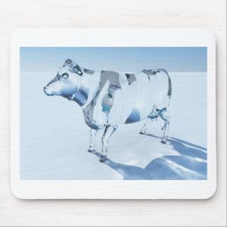 Vaca de cristal tapete de raton