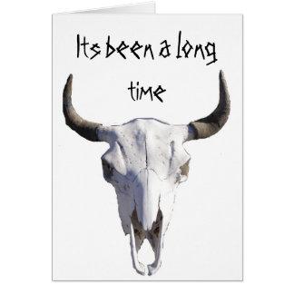 vaca de cuernos cortos, su sido un rato largo tarjeta pequeña