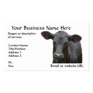 Vaca de ganado negra de Angus Tarjetas De Visita