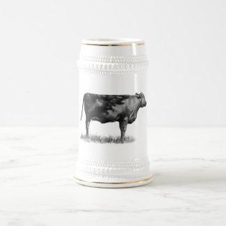Vaca de ganado/novilla en lápiz: Realismo: Dibujo Jarra De Cerveza