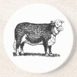 Vaca de Hereford Posavasos Diseño