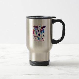 Vaca de Holstein de la taza del viaje en púrpura y