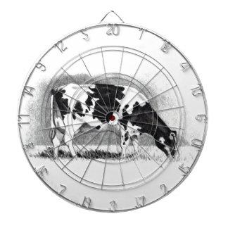 Vaca de Holstein Dibujo de lápiz Granja país Tablero De Dardos