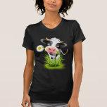 Vaca de Holstein en hierba Camisetas