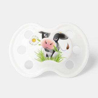 Vaca de Holstein en hierba Chupetes Para Bebés