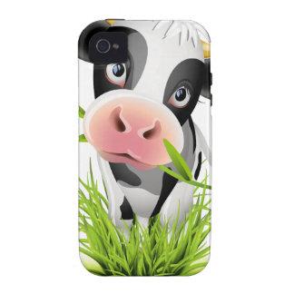 Vaca de Holstein en hierba Vibe iPhone 4 Carcasas