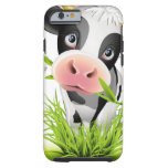Vaca de Holstein en hierba Funda De iPhone 6 Tough