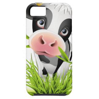 Vaca de Holstein en hierba iPhone 5 Carcasa