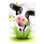 Vaca de Holstein en hierba Papelería De Diseño