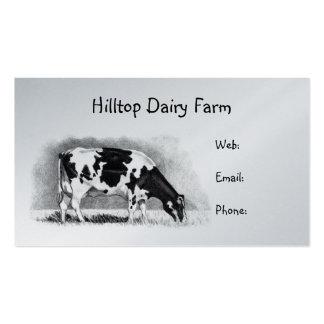 Vaca de Holstein en lápiz: Lechería, leche, granja Tarjetas De Visita