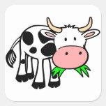 Vaca de Holstein Pegatina Cuadrada