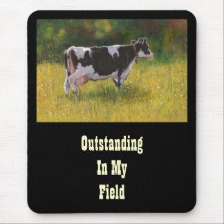 Vaca de Holstein, pintando EXCEPCIONAL EN CAMPO: D Alfombrillas De Ratones