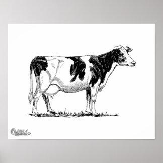 Vaca de Holstein Póster