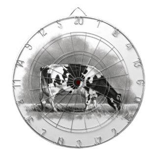 Vaca de Holstein que pasta Dibujo de lápiz del re Tabla Dardos