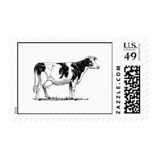 Vaca de Holstein Timbres Postales