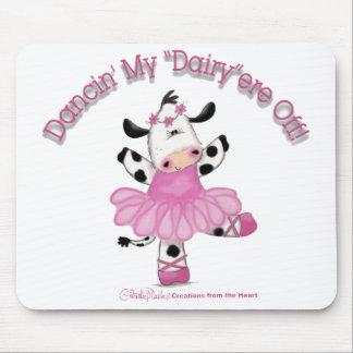 Vaca de la bailarina alfombrillas de ratón