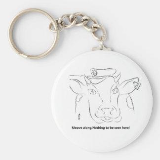 Vaca de la comedia llavero redondo tipo pin