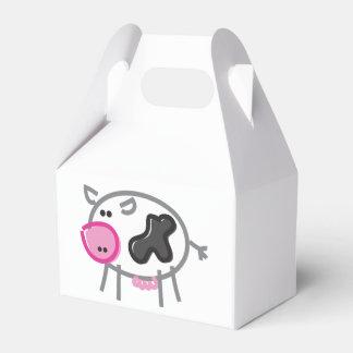 Vaca de la diversión en blanco caja para regalo de boda