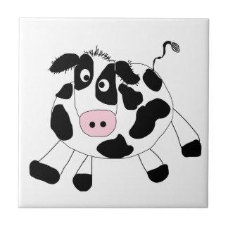 Vaca de la granja azulejo cuadrado pequeño