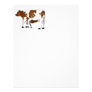 Vaca de la madre con el becerro flyer personalizado