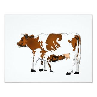 """Vaca de la madre con el becerro invitación 4.25"""" x 5.5"""""""