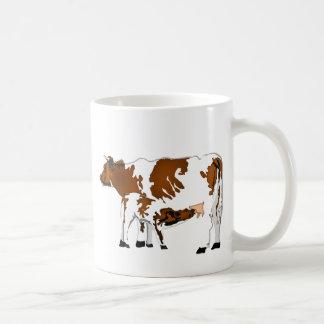 Vaca de la madre con el becerro tazas de café