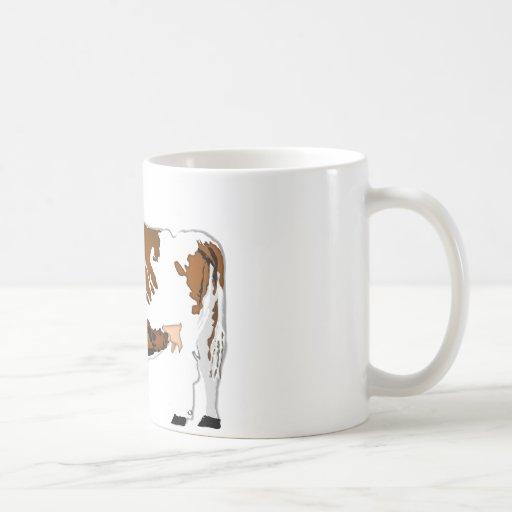 Vaca de la madre con el becerro taza de café