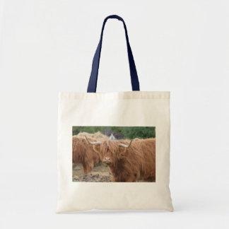 Vaca de la montaña bolsa tela barata
