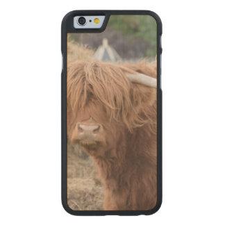 Vaca de la montaña funda de iPhone 6 carved® slim de arce