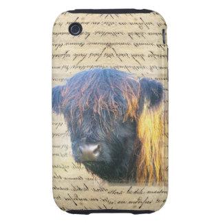 Vaca de la montaña funda resistente para iPhone 3
