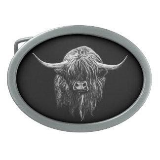 Vaca de la montaña hebillas de cinturón ovales
