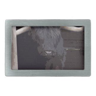 Vaca de la montaña hebillas de cinturon rectangulares