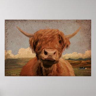 Vaca de la montaña póster