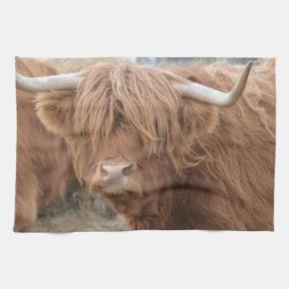 Vaca de la montaña toalla de cocina