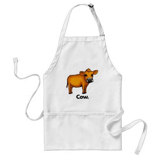 Vaca de la vaca delantal