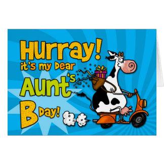 vaca de la vespa de BD - tía Tarjeta De Felicitación