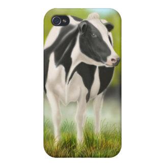 Vaca de leche de Holstein iPhone 4 Funda