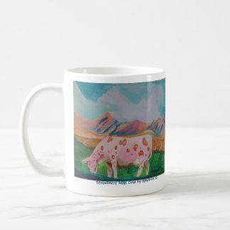 Vaca de leche de la fresa de Stephen R. Taza