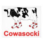 Vaca de leche en calcetines - vaca de Cowasocki un Tarjetas Informativas
