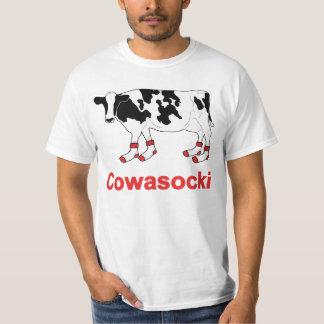 Vaca de leche en calcetines - vaca de Cowasocki un Playera