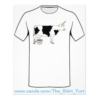"""Vaca de leche mágica de la lechería del unicornio folleto 4.5"""" x 5.6"""""""