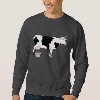 Vaca de leche mágica de la lechería del unicornio suéter