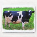 Vaca de leche tapetes de ratón