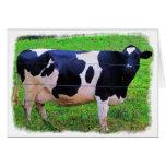 Vaca de leche tarjeta