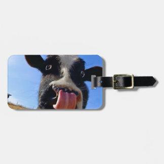 Vaca de Lickin Etiquetas Para Maletas