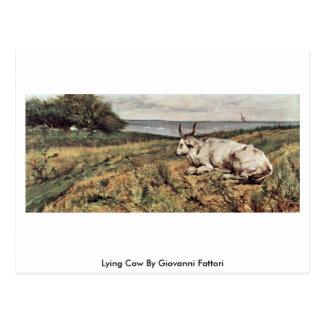 Vaca de mentira de Giovanni Fattori Tarjeta Postal