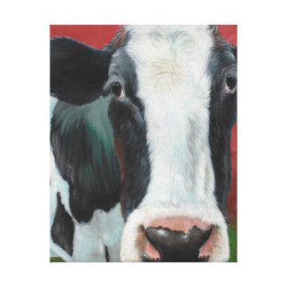 ¡Vaca de Mooooooo! Lona Estirada Galerías